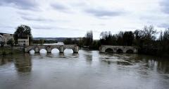 Vieux pont de Limay (également sur commune de Limay) - Français:   Le vieux pont sur la Seine, entre Limay et Mantes-la-Jolie (Yvelines); les arches restantes sont côté Limay