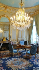 Anciens hôtels de Brienne et de Broglie, actuellement ministère de la défense - Français:   bureau du ministre de la défense, Hötel de Brienne, Paris