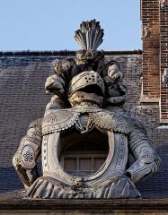 Hôtel des Invalides -  Une lucarne ornant la toiture des Invalides sur sa façade nord.