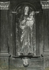 Eglise Saint-Florent -  Skulptur Madonna und Kind in der Kirche Saint-Florent in Plufur