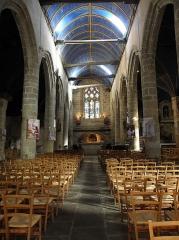Eglise Saint-Mélaine - Français:   Nef principale de l\'église Saint-Melaine de Morlaix (29).
