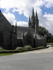 Chapelle Saint-Fiacre - Français:   Flanc nord de la chapelle saint-Fiacre du Faouët (56).