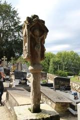 Eglise Sainte-Croix - Français:   Calvaire en granit du XVIe, Josselin , Morbihan