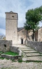 Eglise et ancien cimetière - English:   Saint Christopher church in La Couvertoirade, Aveyron, France