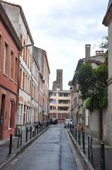 Ruines de l'église des Cordeliers -  Rue Urbain Vitry, Église des Cordeliers de Toulouse; Toulouse, Midi-Pyrénées, France