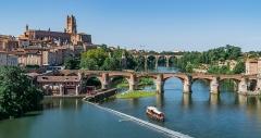 Vieux pont - Français:   Vieux pont d'Albi, Tarn, France