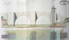 Vieux pont sur l'Agout - Français:   Dessin de 1770 du pont-vieux de Brassac