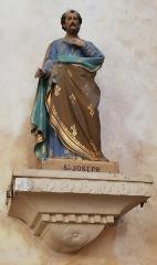 Eglise Saint-Martin - Français:   Statue de Saint-Joseph Église Saint-Éloi de Chalivoy-Milon