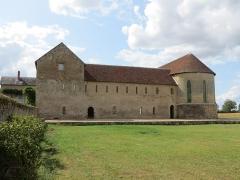 Ancien prieuré grandmontain de Fontblanche - Deutsch:   Church of the Grandmontine Priory Fontblanche, comm. Genouilly, Département Cher, France, east side