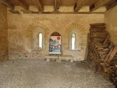 Ancien prieuré grandmontain de Fontblanche - Deutsch:   Grandmontine Priory Fontblanche, comm. Genouilly, Département Cher, France, inside chapter house