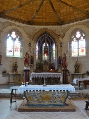 Eglise Saint-Denis - Français:   Chœur de l'église Saint-Denis de Prunay-le-Gillon, Eure-et-Loir, France.