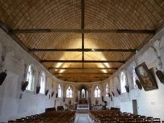 Eglise Saint-Denis - Français:   Nef et chœur de l'église Saint-Denis de Prunay-le-Gillon, Eure-et-Loir, France.