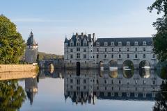 Domaine de Chenonceau - Français:   Façade ouest du Château, et la Tour des Marques