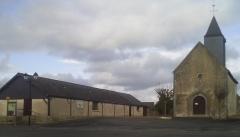 Eglise Saint-Martin de Vertou - Français:   Le jeu de boules près de l'église