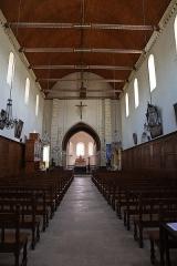 Eglise Notre-Dame - Français:   Intérieur de l'église Notre-Dame de Bellegarde (45). Nef.