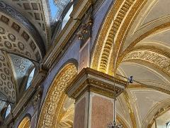 Eglise Sainte-Marie, ancienne cathédrale - Français:   Détail du décor intérieur de la cathédrale Sainte Marie de Bastia