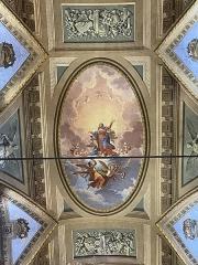 Eglise Sainte-Marie, ancienne cathédrale - Français:   Les peintures de la voûte de la cathédrale sainte-Marie de Bastia