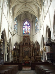 Eglise Notre-Dame-des-Arts - Français:   Chœur avec son retable Louis XIII.