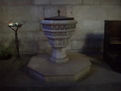 Eglise Notre-Dame-des-Arts - Français:   Fonts baptismaux