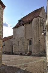 Château de Crozant - Français:   Église de la Nativité de la Vierge de Glénic, vue du centre bourg.