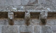 Eglise Saint-Léger - English:   Romanesque corbels of the Saint Leodegar church in Saint-Léger-Magnazeix