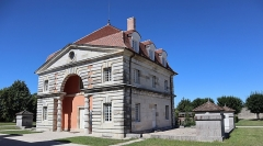 Ancienne saline royale, actuellement Fondation Claude-Nicolas Ledoux - Français:   Bâtiment des Commis de la Saline royale d'Arc-et-Senans (39).