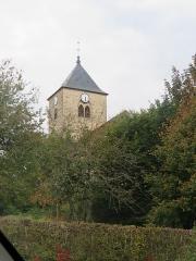 Eglise Saint-Laurent - Français:   Vue sur le clocher.
