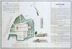 Eglise Notre-Dame - Français:   Plan de l'église et du prieuré de 1810
