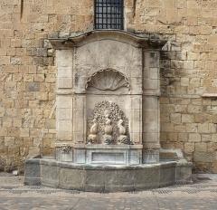 Ancien archevêché et ses abords - Deutsch:   Brunnen am Erzbischöflichen Palast in Narbonne