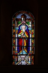 Eglise Saint-Martin -  Saint John in the St Martin's parish church on Aujargues,  Gard , France