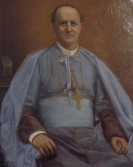 Ancien palais épiscopal - Français:   Nîmes (Gard, France), évêché, portrait par Louis Emile Pinel de Grandchamp de Mgr Félix-Auguste Béguinot (vers 1900), évêque de Nîmes de 1896 à 1921.