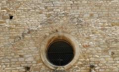 Eglise Saint-Laurent - Français:   France - Gard - Saint-Laurent-des-Arbres - Église Saint-Laurent - appareil en arête-de-poisson