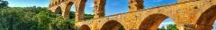 Pont du Gard et aqueduc romain de Nîmes - This building is en partie classé, en partie inscrit au titre des monuments historiques de la France. It is indexed in the base Mérimée, a database of architectural heritage maintained by the French Ministry of Culture,under the reference PA00103291 .