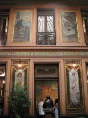 Ancien Hôtel Pams - Català:   Casa Pams (Perpinyà), decoració de la galeria superior, amb pintures de Paul Jean Gervais
