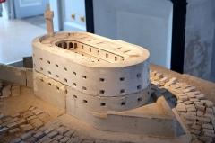 Ancien Hôtel de Cheusse, dit Hôtel de l'Intendance maritime - Français:   Maquette du fort Boyard musée de la Marine Rochefort Charente-Maritime France