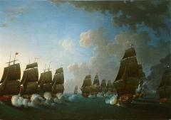 Ancien Hôtel de Cheusse, dit Hôtel de l'Intendance maritime - Français:   Combat de la Dominique le 17 avril 1780