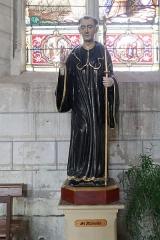Eglise Saint-Pierre - Français:   Statue de Saint-Alléaume en l'église Saint-Pierre du marché à Loudun (86).