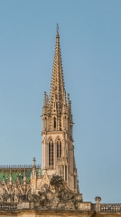 Basilique Saint-Epvre - English:   Bell tower of the Saint Aprus basilica in Nancy, Meurthe-et-Moselle, France