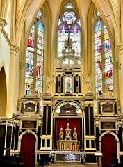 Abbaye - Français:   Retable de l\'église de remiremont. Vosges