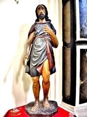 Abbaye - Français:   Statue, dans l\'église de Remiremont. Vosges