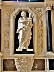 Abbaye - Français:   Vierge à l\'Enfant. Eglise de Remiremont. Vosges