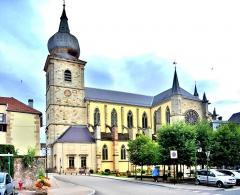Abbaye - Français:   Eglise Notre-Dame de Remiremont. Vosges
