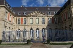 Ancien palais abbatial, hôtel de ville - English:   Remiremont, Vosges, France: a part of the west façade of the former abbatial palace, seen from Place de Mesdames