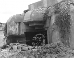 Ancienne gare maritime - English:   German gun emplacement in Cherbourg, Manche, France.