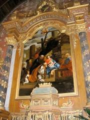 Eglise - Français:   Mesnil-Clinchamps (Normandie, France). Le tableau L\'Adoration des mages, dans l\'église Saint-Martin.