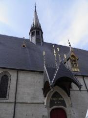 Hôtel-Dieu ou Hospices civils de Beaune - Français:   Entrée des hospices de Beaune (Côte-d\'Or, France).