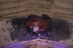 Eglise Saint-Germain d'Auxerre - Français:   Intérieur de l'église Saint-Germain de Vitteaux (21). Sculpture du Père éternel au sommet de l'intrados de la fenêtre de la 2ème chapelle septentrionale.
