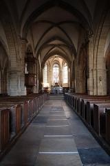 Eglise Saint-Germain d'Auxerre - Français:   Intérieur de l'église Saint-Germain de Vitteaux (21). Vaisseau principal.