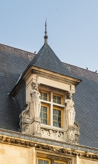 Palais Ducal - English:   Dormer window of the Ducal Palace in Nevers, Nièvre, France