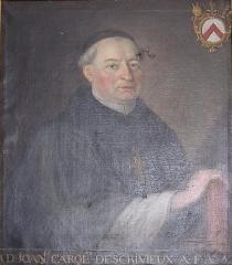 Château de la Ferté-sur-Grosne, ancienne abbaye cistercienne - English:   Portrait of Jean-Charles Descrivieux, abbot of la Ferté (1726-1733).
